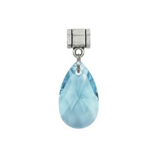 Jewelry by Dawn Aquamarine Blue Austrian Crystal Pear Pendant