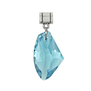 Jewelry by Dawn Aquamarine Blue Austrian Crystal Galactic Pendant