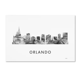 Marlene Watson 'Orlando Florida Skyline WB-BW' Canvas Art