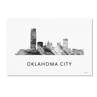 Marlene Watson 'Oklahoma City Oklahoma Skyline WB-BW' Canvas Art