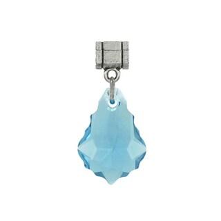 Jewelry by Dawn Aquamarine Blue Austrian Crystal Baroque Pendant