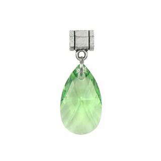 Jewelry by Dawn Peridot Green Austrian Crystal Pear Pendant