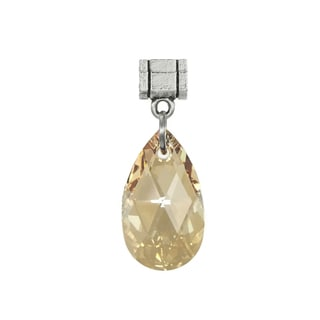 Jewelry by Dawn Golden Shadow Austrian Crystal Pear Pendant