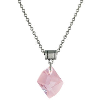 Jewelry by Dawn Pink Crystal Cosmic Stainless Steel Chain Necklace