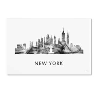 Marlene Watson 'New York New York Skyline WB-BW' Canvas Art