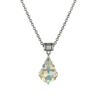 Jewelry by Dawn Aurora Borealis Crystal Baroque Stainless Steel Chain Necklace - Multi