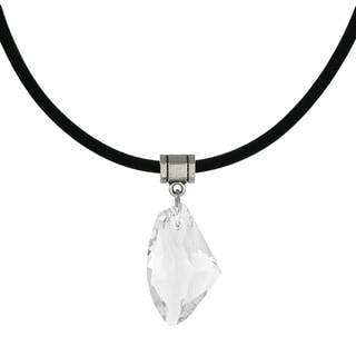 Jewelry by Dawn Clear Crystal Galactic Greek Leather Cord Necklace