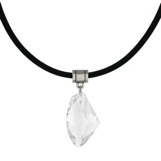 Handmade Jewelry by Dawn Clear Crystal Galactic Greek Leather Cord Necklace (2 options available)