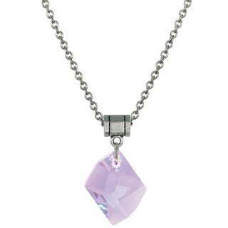 Jewelry by Dawn Violet Crystal Cosmic Stainless Steel Chain Necklace