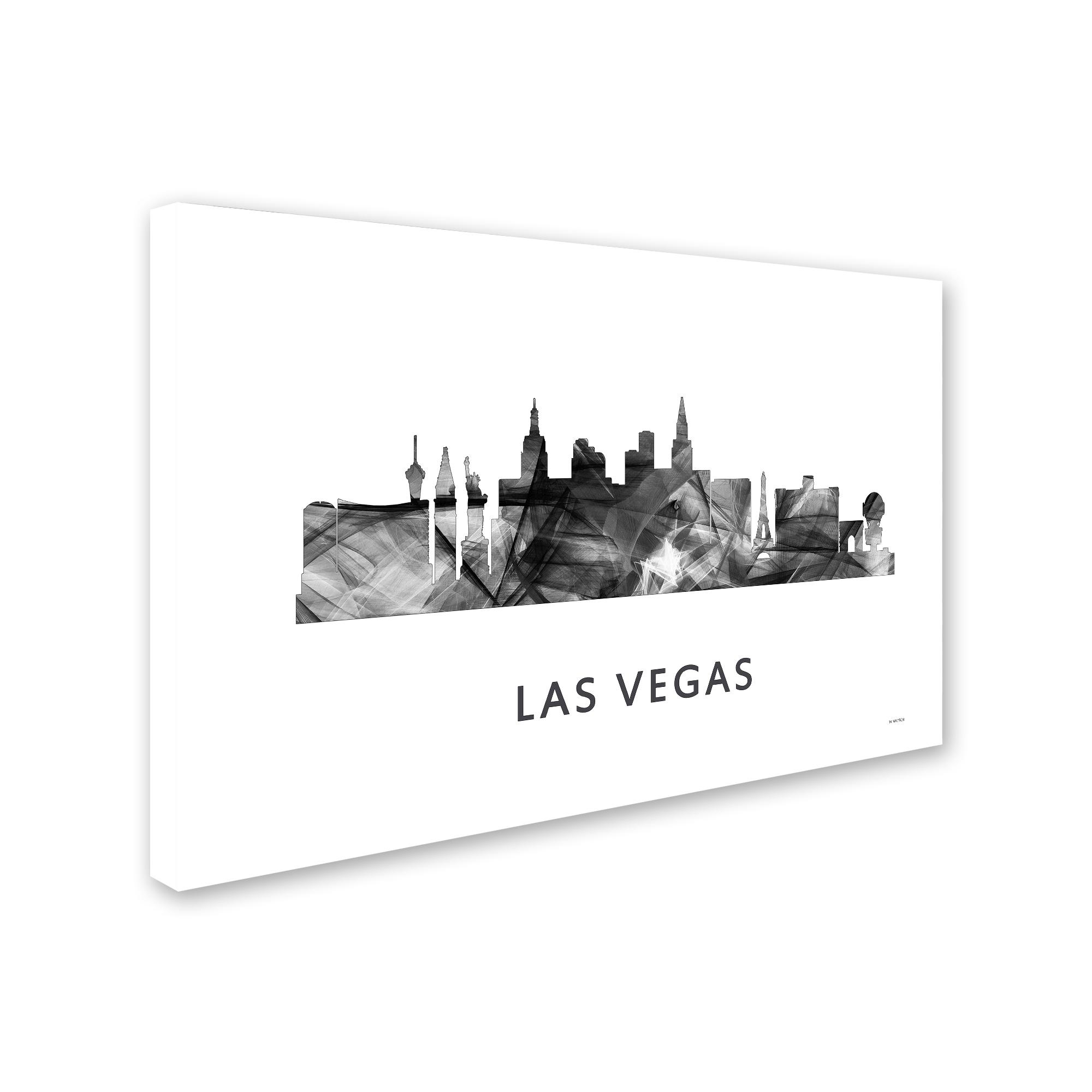 Marlene Watson Las Vegas Nevada Skyline 2 Wb Bw Canvas Art Overstock 12934064