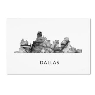Marlene Watson 'Dallas Texas Skyline WB-BW' Canvas Art