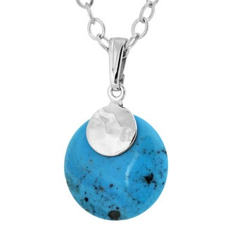 Women's Sterling Silver Kingman Turquoise Pendant - Blue (Option: Turquoise)