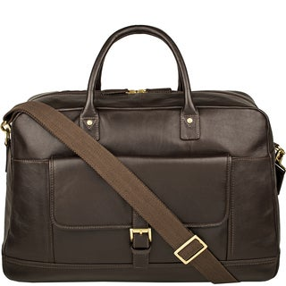 Hidesign Hunter Black/Brown Leather Cabin-sized Duffel Bag
