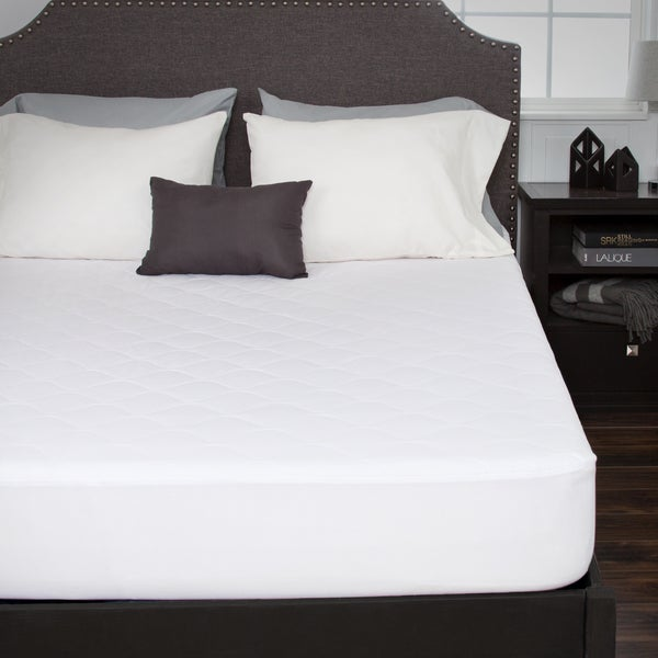Windsor Home Down Alternative Cotton Mattress Pad With Fitted Skirt