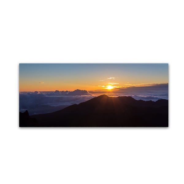 Pierre Leclerc 'Haleakala Sunrise Maui' Canvas Art