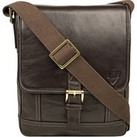 Hidesign Hunter Leather With Cotton Lining Small Crossbody Messenger Bag