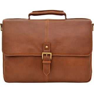 Hidesign Charles Laptop-compatible Leather Messenger Briefcase