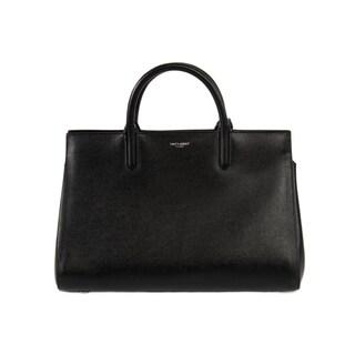 Yves Saint Laurent Cabas Rive Small Black w/Silver Hardware Gauche Satchel Handbag