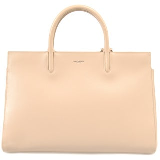Yves Saint Laurent Cabas Rive Medium Beige w/Silver Hardware Satche Gauche Handbag