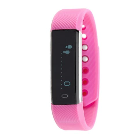 RBX Active TR5 Pink Waterproof Bluetooth Activity Fitness Tracker with Touchscreen