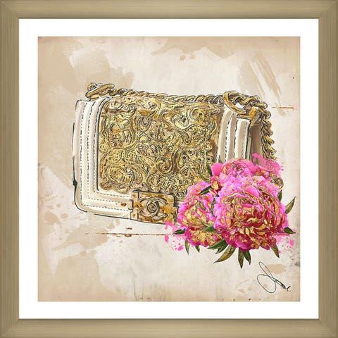 "BY Jodi ""Coco In Gold"" Framed Plexiglass Wall Art"