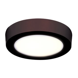 Access Lighting Strike 2.0 Dimmable LED Bronze 10-inch Round Flush Mount