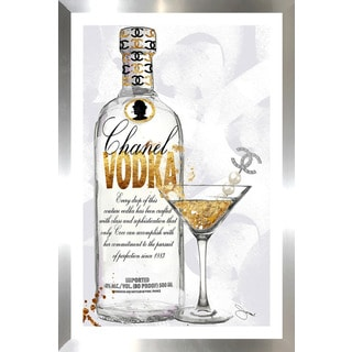 "BY Jodi ""Couture Cocktail"" Framed Plexiglass Wall Art"