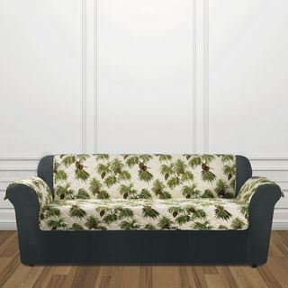 Sure Fit Holiday Pinecone Sofa Furniture Cover
