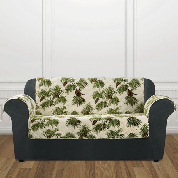 Shop Sure Fit Holiday Pinecone Loveseat Furniture Cover