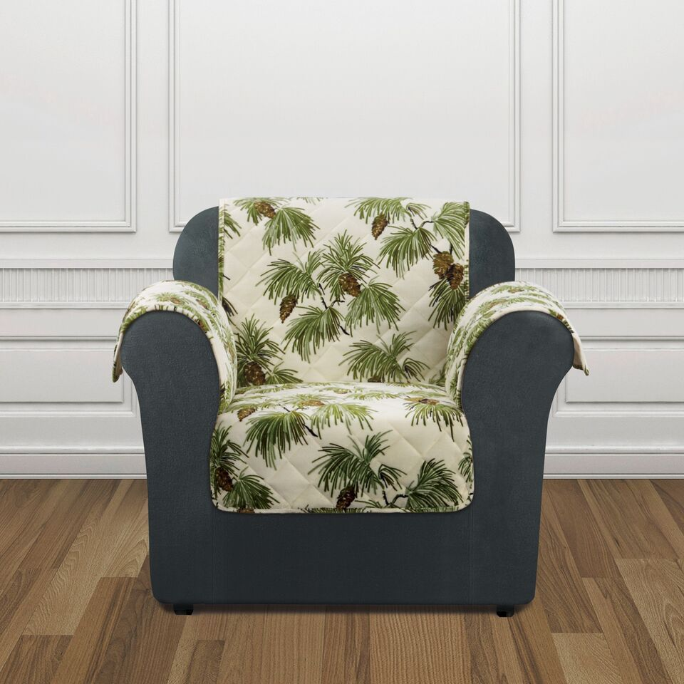 Sure Fit Holiday Pinecone Chair Furniture Cover (Pinecone...