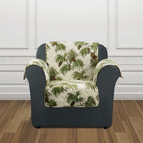 Sure Fit Holiday Pinecone Chair Furniture Cover