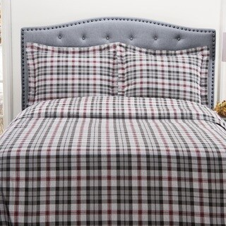 Winter Nights 100-percent Cotton Flannel Duvet Set