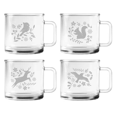 Woodland Winter Camp Mug (Set of 4)