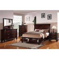 Anatolio Cherry Storage Bed 4-Piece Bedroom Set