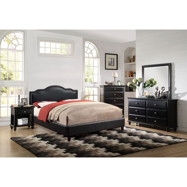 Barton Black 6 Piece Bedroom Set Free Shipping Today Overstock 19687049