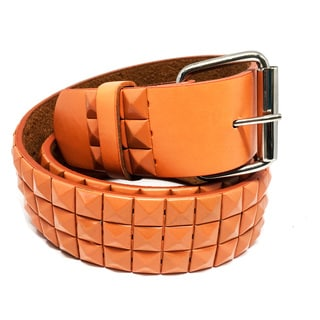 Faddism Unisex Vita C Pyramid Studded Leather Belt
