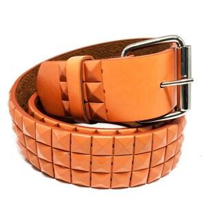 Faddism Unisex Vita C Pyramid Studded Leather Belt