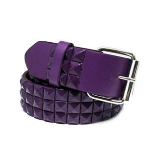Faddism Unisex Nightfall Pyramid-Studded Leather Belt