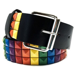 Faddism Unisex 'Dorothy' Pyramid Studded Leather Belt