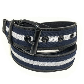 Faddism Unisex Tricolor Canvas and Leather Sailor Belt
