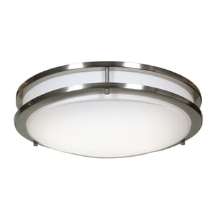Access Lighting Solero Dimmable LED Brushed Steel 14-inch Flush Mount