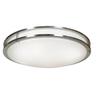 Access Lighting Solero Dimmable LED Brushed Steel 24-inch Flush Mount
