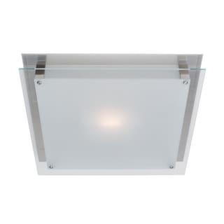 Access Lighting Vision 2-light Brushed Steel 16-inch Flush Mount