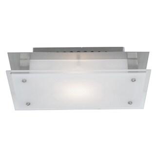 Access Lighting Vision 1-light Brushed Steel 7-inch Flush Mount