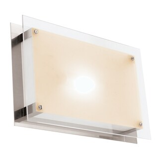 Access Lighting Vision 1-light Brushed Steel 10-inch Flush Mount
