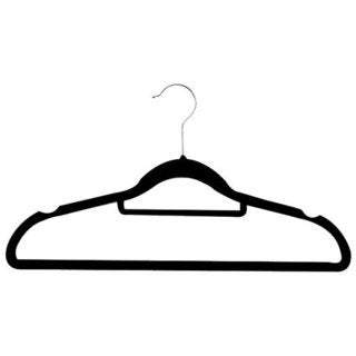 Zen Closet Black 200-pack Ultra Thin Heavy Duty No-slip Velvet Suit Hangers with Tie Bar