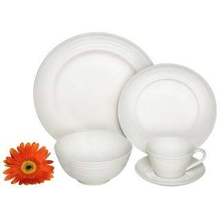Melange Home Ivory Classic Switl 40-piece Premium Dinnerware Place Setting