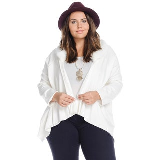 Hadari Plus Size Casual Asymmetric Drape Cardigan