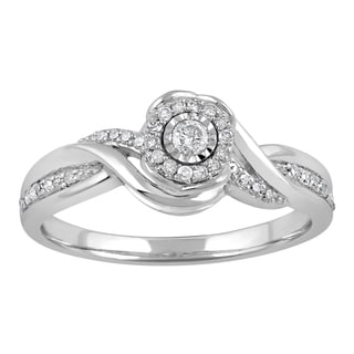 Sterling Silver 1/5ct TDW Diamond Bypass Fashion Ring (I-J, I2-I3)