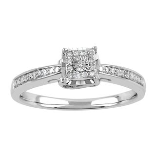 Sterling Silver 1/10ct TDW Diamond Fashion Ring